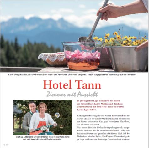 Lifetime Südtirol – Hotel Tann bei Bozen, Der blaue Punkt, Sabine Vöhringer